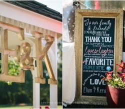Eliza and Keean Simple Country Wedding Initials Sign
