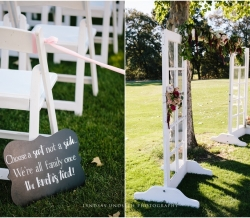 Eliza and Keean Simple Country Wedding Signs Doors