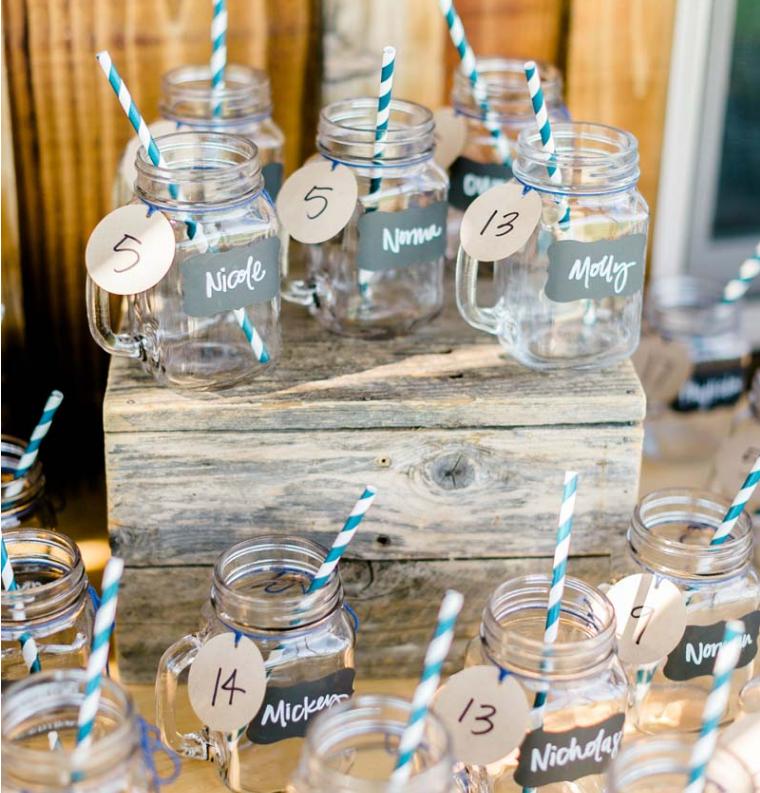 reverie gallery simple country wedding rentals mason jars