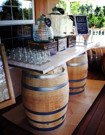 Vintage Wine Barrel Bar