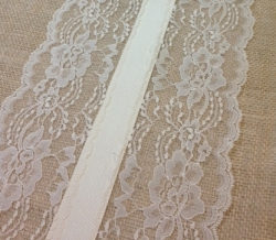 Ivory Lace and Burlap Runner
