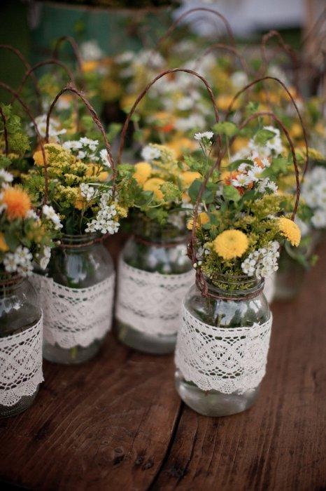 Mason Jars Simple Country Weddings