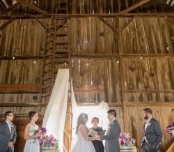 Melanie Ryan Barn Wedding Ceremony