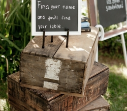 Wood Crates and Chalkboards