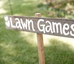 Wooden Lawn Sign