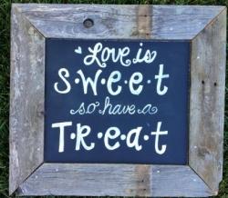 Sweet Treat Vintage Wood Sign