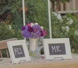 Mr and Mrs table signs