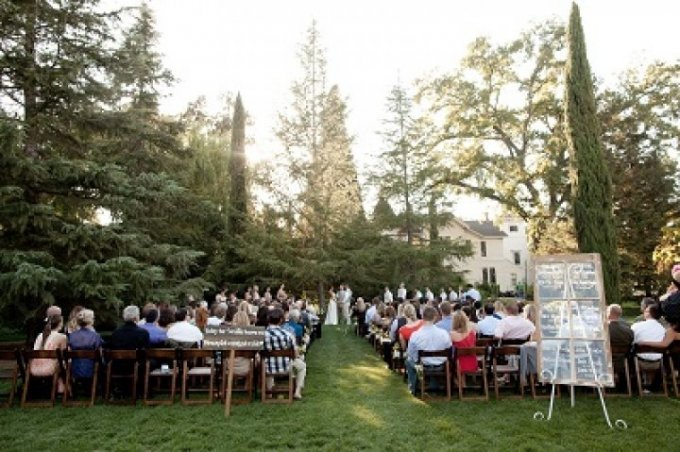 The simple sophistication of the outdoors shows off the pride and joy of any wedding…the bride and groom, as they become Mr. and Mrs.