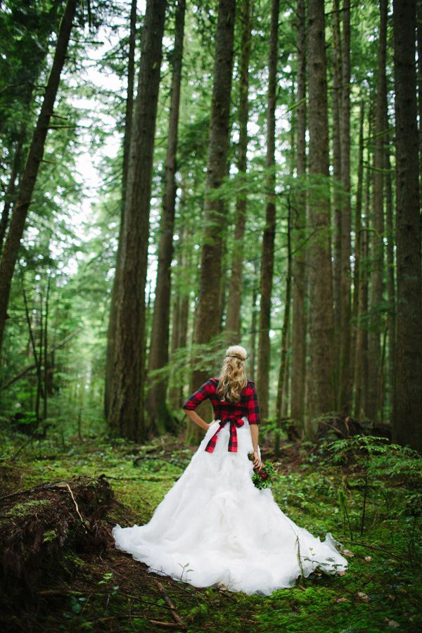 Red Flannel Wedding Dresses