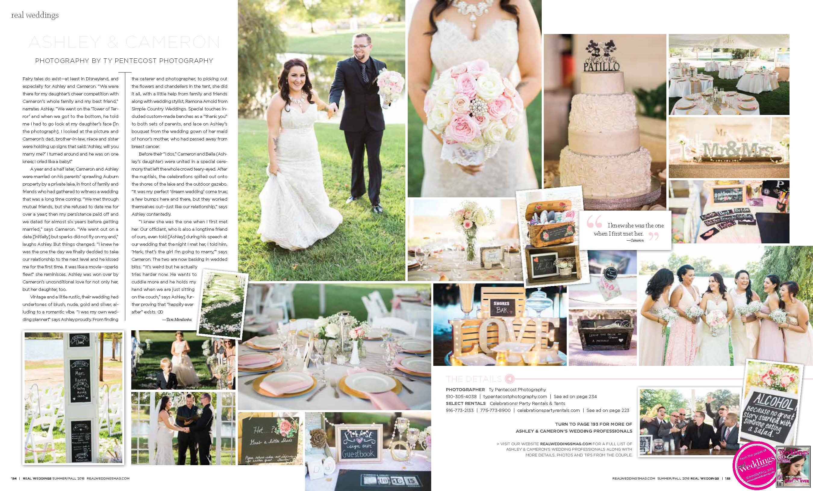 Ashley Cameron Real Weddings Mag