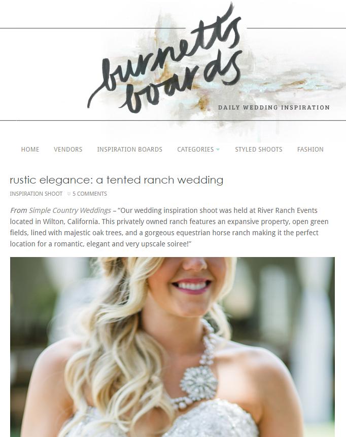 Tented Ranch Wedding Burnett s Boards Wedding Inspiration